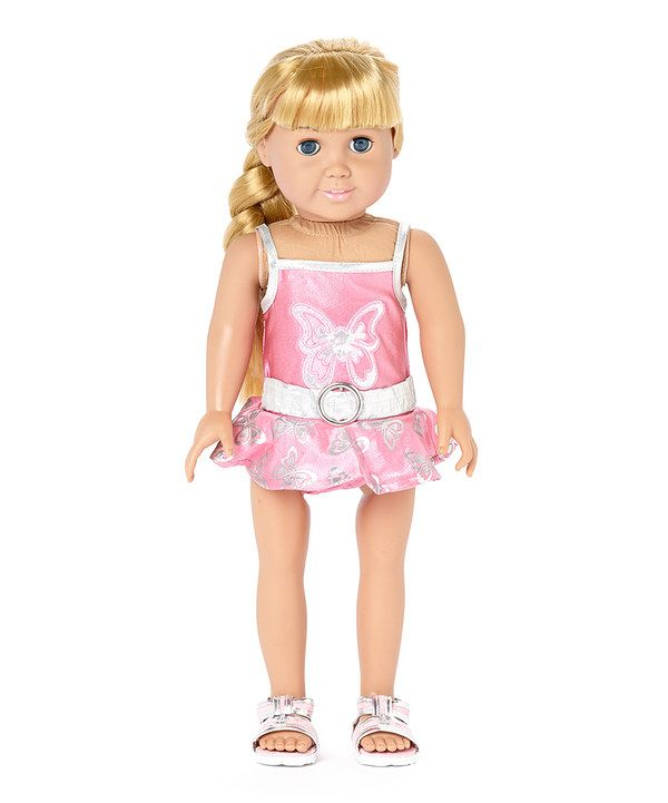 Look at this Silver & Pink Bathing Suit & Sandal Set for 18\'\' Doll ...