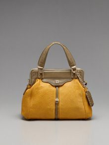 Olivia Harris-Textured Zipper Satchel
