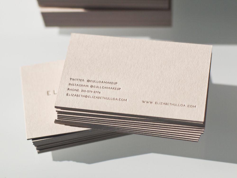 Presshaus LA | Elizabeth Ulloa business card | love the idea of pale ...