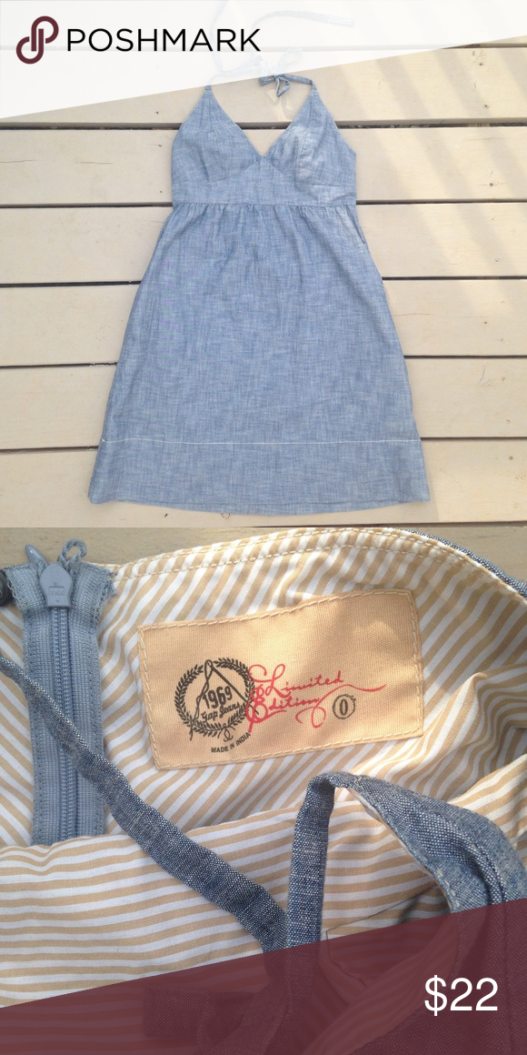 e84c9e82c4 Gap jean dress Super cute gap Jean halter top dress. Size 0. Reasonable  offers always considered! GAP Dresses