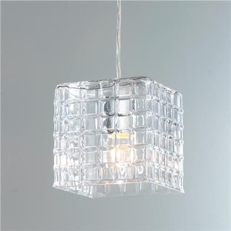 Grid Square Glass Pendant Light