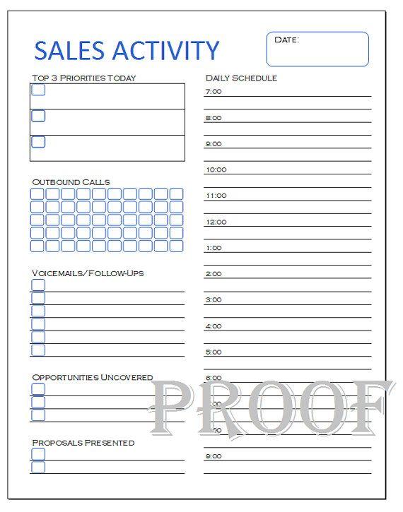 telemarketing tracking sheet