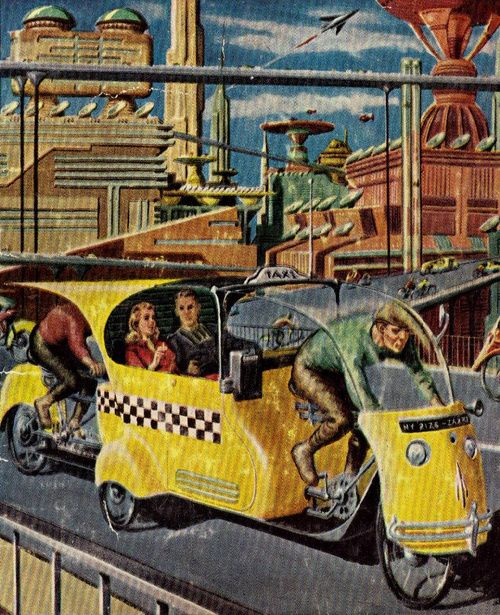 """Ed Emshwiller - A """"Hucksters"""" Utopia Of The Future, 1952."""