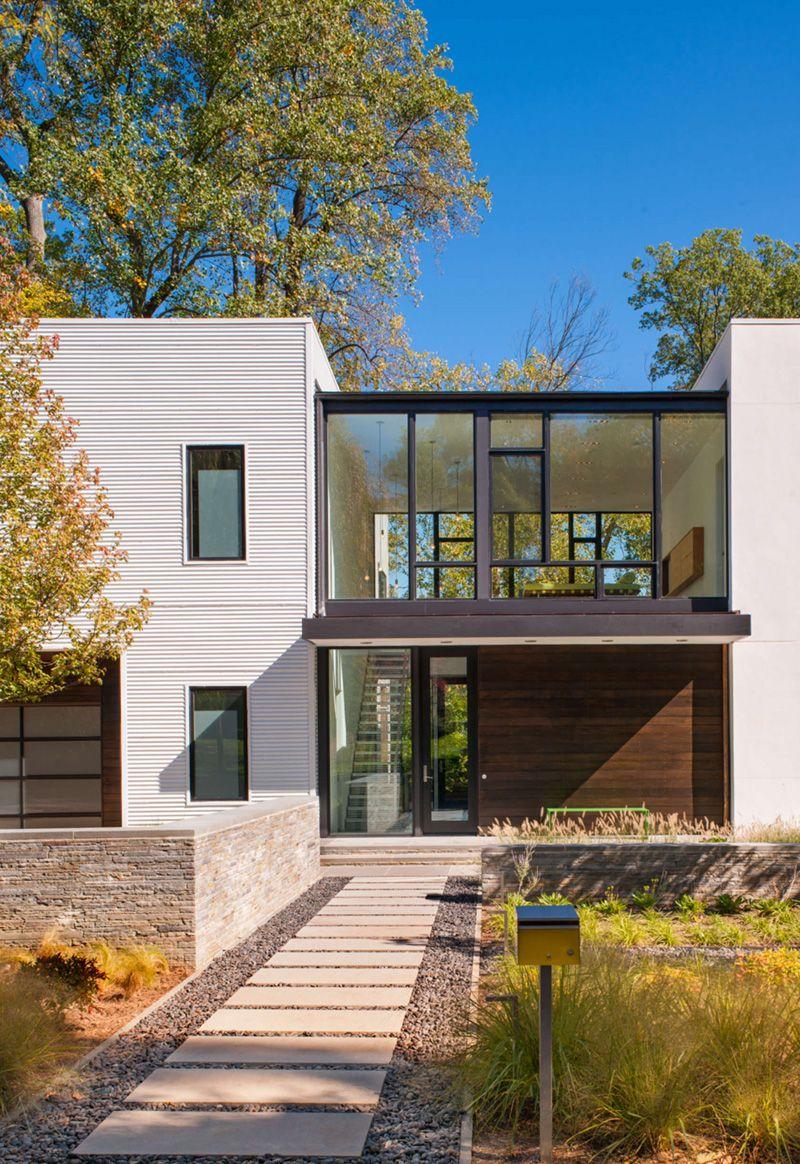 71 Contemporary Exterior Design Photos: Robert M. Gurney Designs A Modular Light-Filled House Near Washington, D.C.