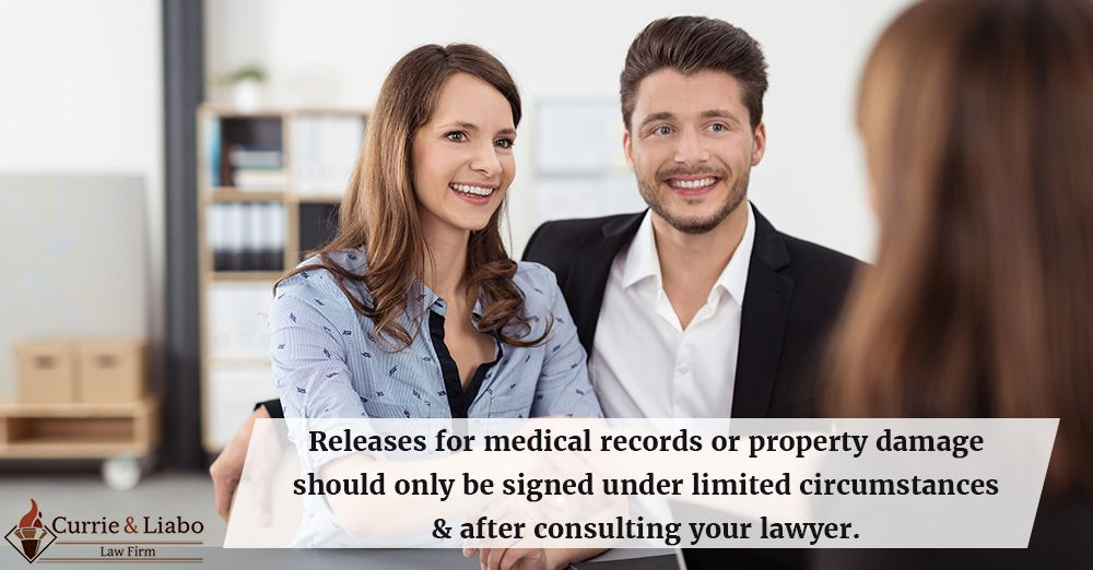Releases for medical records or property damage should only be - medical records job description