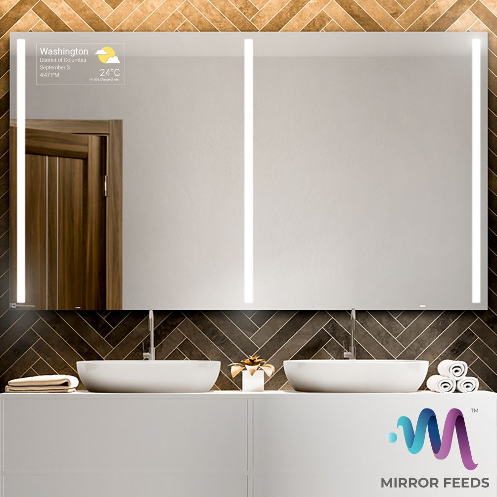 Be Updated With Latest And Biggest News Around You Mirror Feeds Is An Application For Smart Mirrors That Allows Choosing Of Upda Smart Mirror Mirror Mirror Tv [ 1005 x 1005 Pixel ]