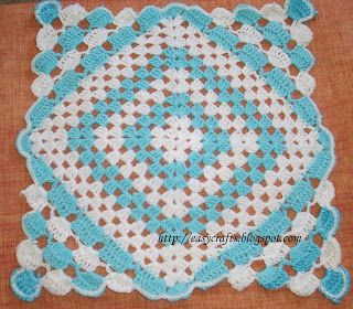 Easy Crafts - Explore your creativity: Crochet Square pattern