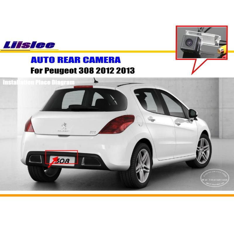 Car Parking Camera Reverse Camera For Peugeot 308 2012 2013 Rear View Camera License Plate Lamp Oem Hd Ccd Night Vision Peugeot 308 Peugeot Hatchback