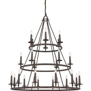 Shop for Voyager 24-light Malaga 3-tier Chandelier. Get free shipping at Overstock.com - Your Online Home Decor Outlet Store!…