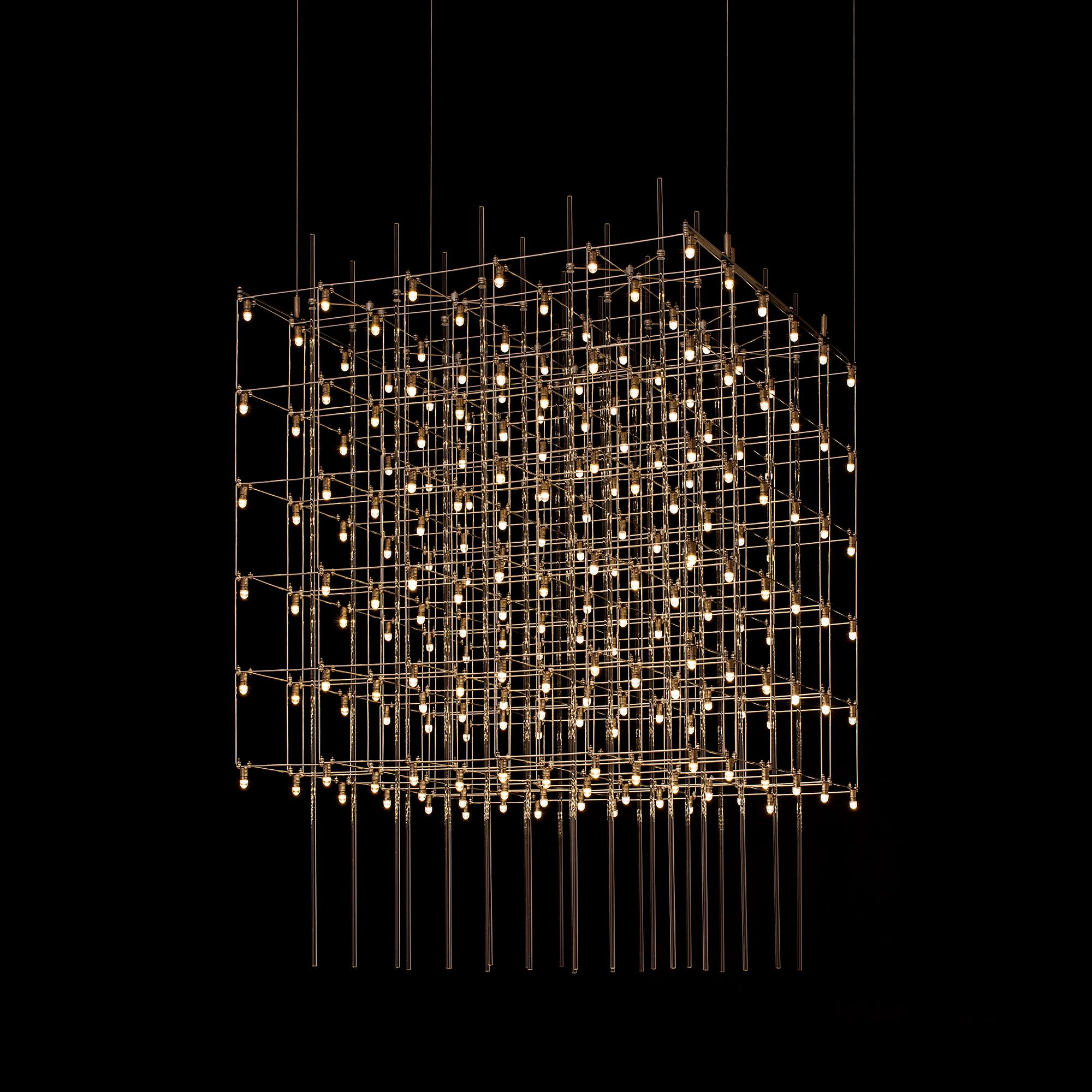 Universo Square Suspension By Edge Lighting Univ 25 L1 Sn Outdoor Decorative Lights Contemporary Recessed Lighting Modern Chandelier
