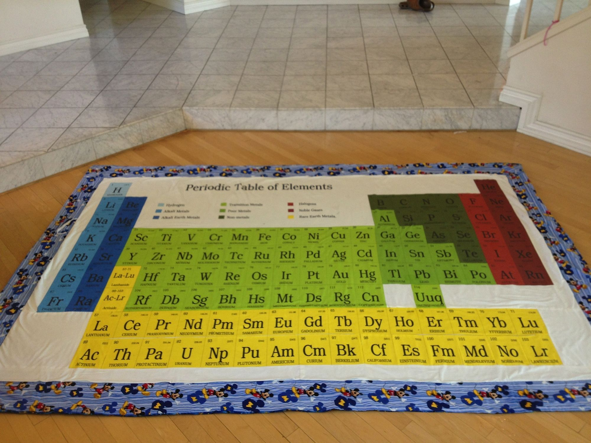 What do you give your husband who is a geek on his 40th birthday what do you give your husband who is a geek on his birthday especially if chemistry was his first love well i made a periodical table quilt with his urtaz Image collections
