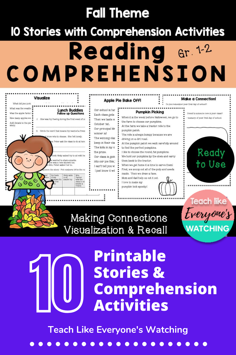 Fall Reading Comprehension Pack Grade 1 2 Reading Comprehension Fall Reading Comprehension Reading Comprehension Activities [ 1500 x 1000 Pixel ]