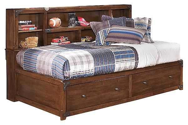 Best The Delburne Youth Captains Bed W Storage From Ashley 400 x 300