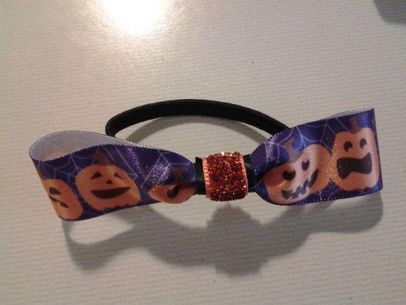 Halloween Pumpkin Hair Tie by ArdentAccessories on Etsy, $3.00