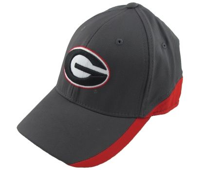 ac1dc24bb85 UGA Hat Charcoal with Red Stripe and