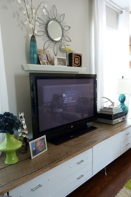 Shelf Above Tv To Hide Our Cords Home Is Where The Heart Is 3