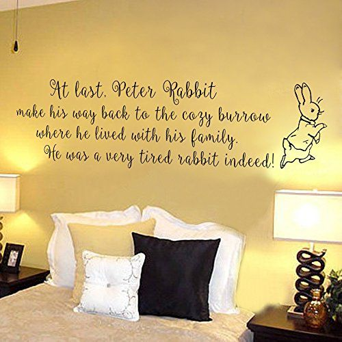 Baby Nursery Wall Decal - Peter Rabbit - Children Wall Decal - Kids ...