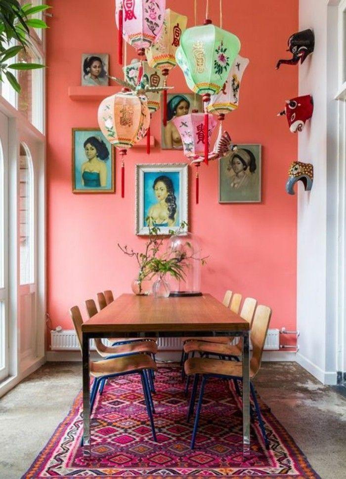 100 Interieur Ideen Mit Grellen Wandfarben! | Pinterest | Wandfarbe,  Esszimmer Gestalten Und Wandfarben Ideen
