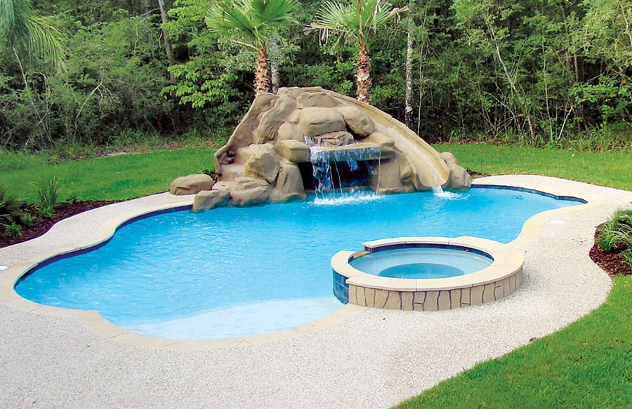 Free Form Pool Ideas Shapes And Pictures Blue Haven Backyard Pool Small Swimming Pools Pool Landscaping