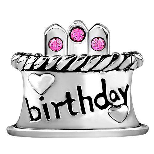 Cool Pugster Happy Birthday Cake Hot Pink Bead Charm Fit Pandora Birthday Cards Printable Opercafe Filternl