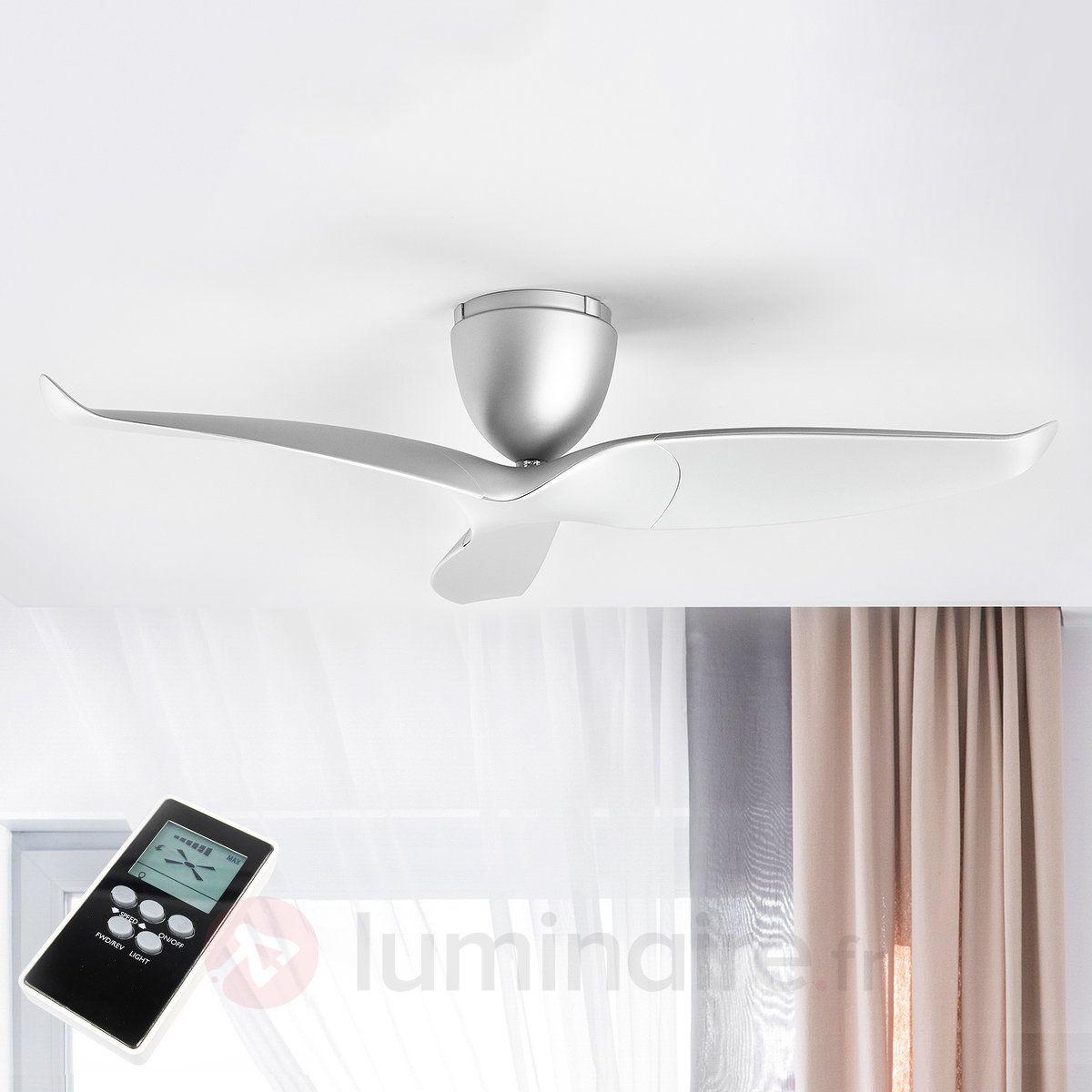 Ventilateur Plafond Airvolution A 3 Pales Argente Ventilateur Plafond Plafond Et Ventilateur