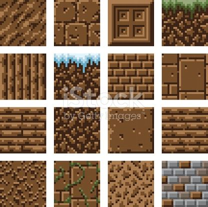 A set of small pixel art tiles that can be used to create