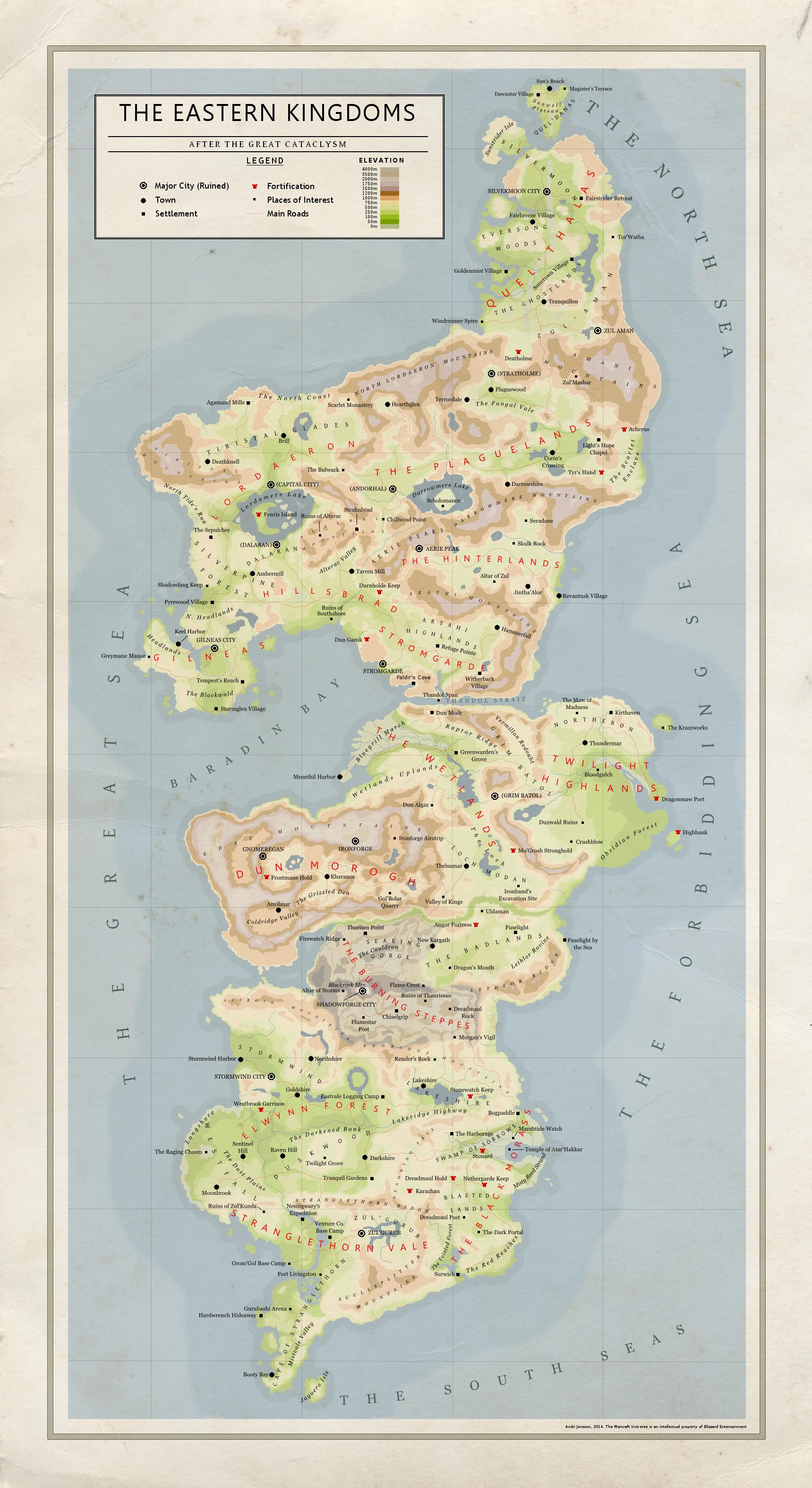 The Eastern Kingdoms (Azeroth Map) | Nerd life | Pinterest | Mapas ...