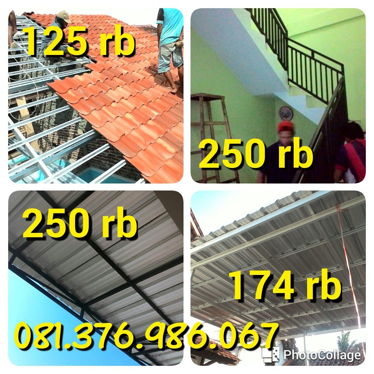 Jarak Reng Baja Ringan Atap Multiroof 081 376 986 067 125rb Kanopi 185rb