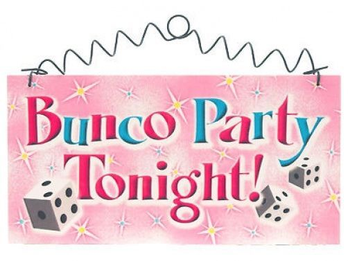 BUNCO Group BUNCO PARTY TONIGHT  SIGN DICE Cottage Chic #DecorativeGreetingsInc #Cottage
