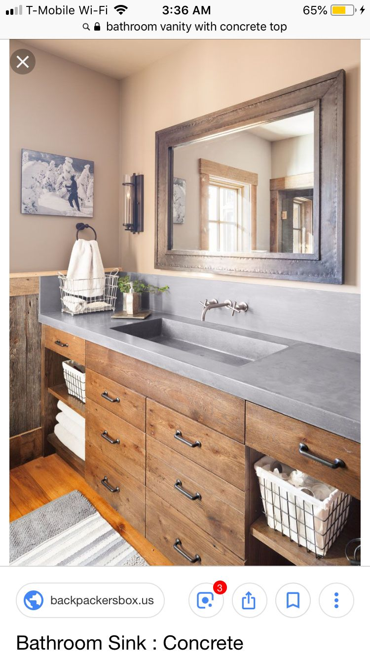 Counter Top With With Two Sinks Modern Farmhouse Bathroom