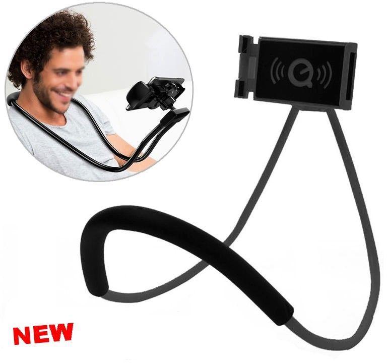 Hands free phone holder flexible neck lazy bracket
