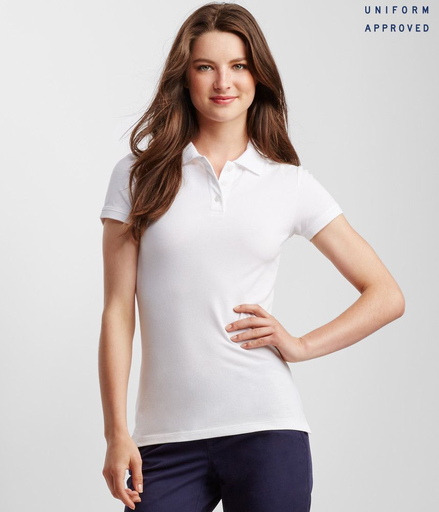 2de35335 Aeropostale womens long sleeve solid uniform piqu polo shirt in 2019 | Uniform  Polo Shirts for Women | Polo shirt women, Shirts, Pique polo shirt