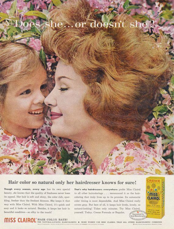 Miss Clairol Hair Color Ad 1961 Vintage Beauty by AdVintageCom