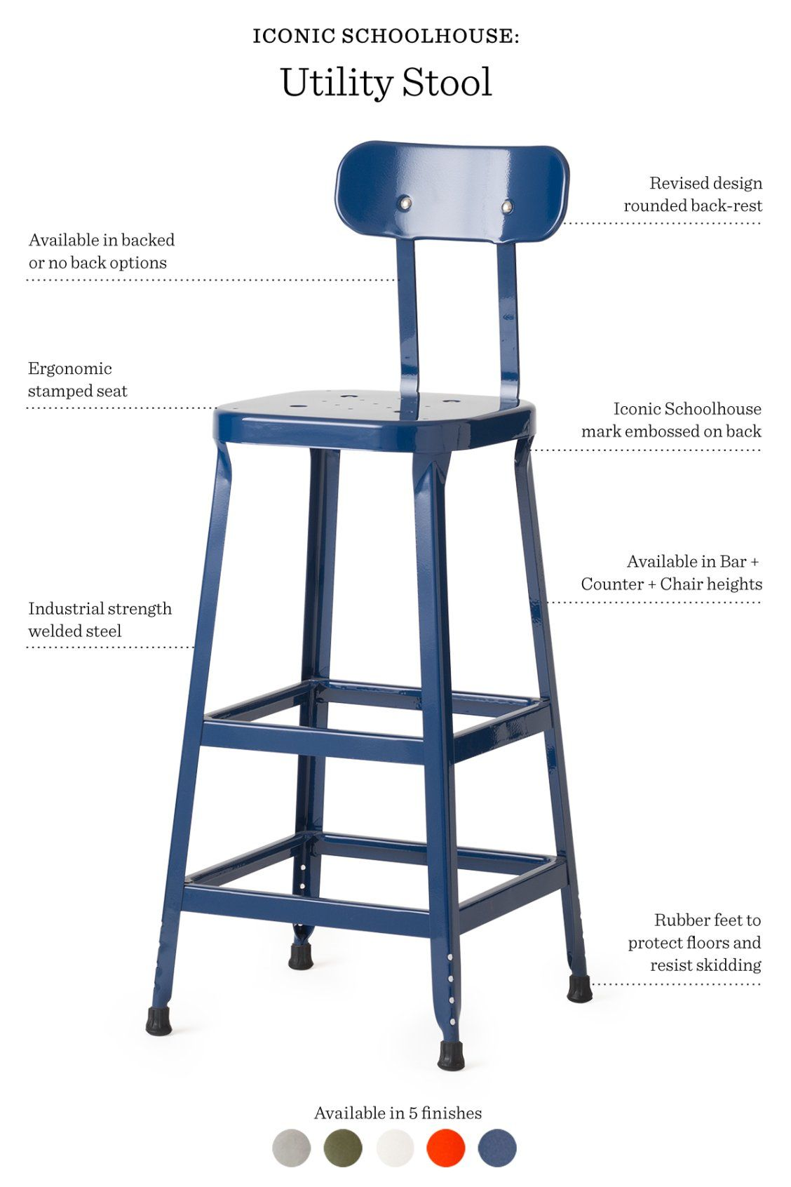 Cheap Stools Iconic Schoolhouse Utility Stool Interior Modern Chairs