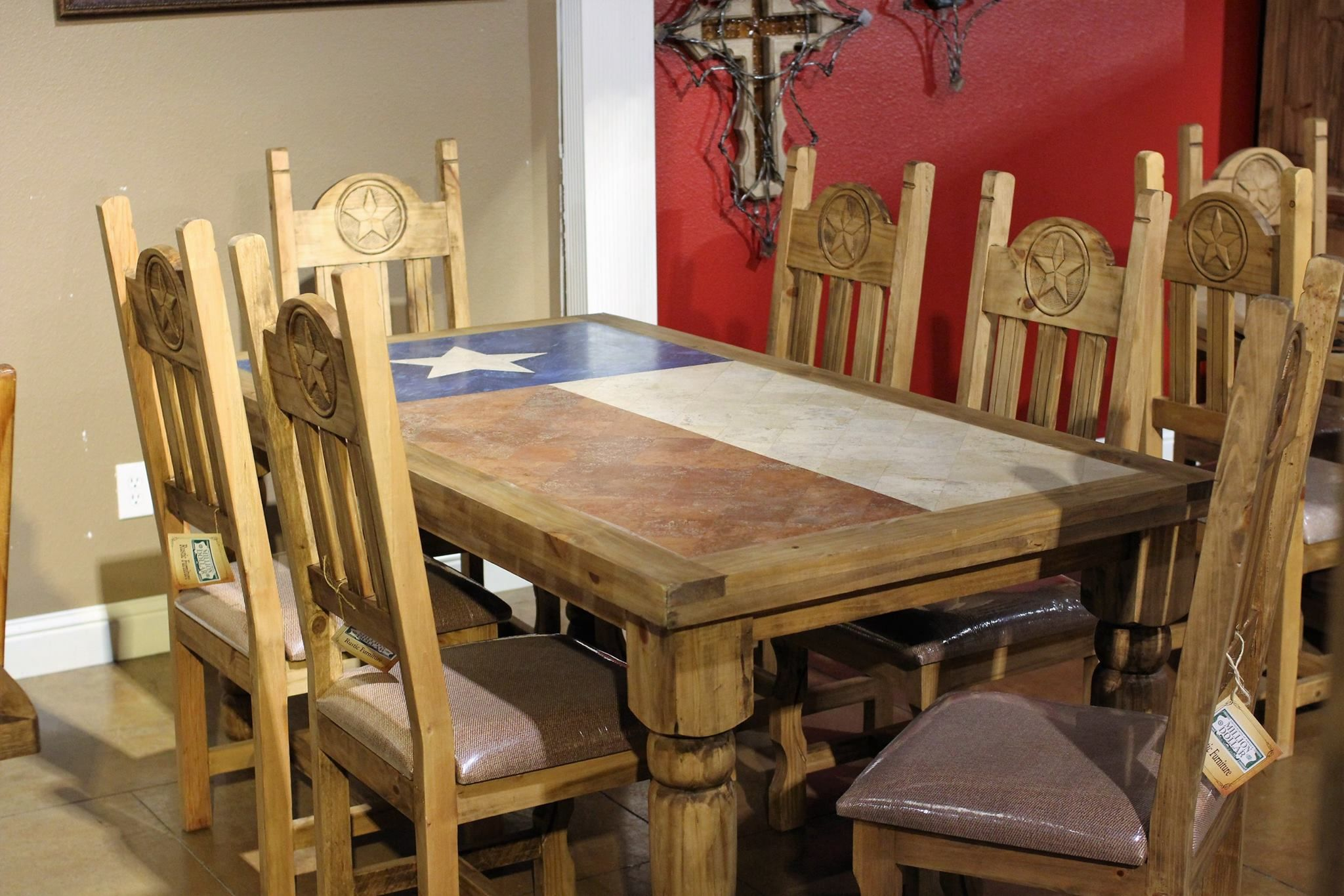Texas Flag Table Dining Table Rustic Dining Table Furniture