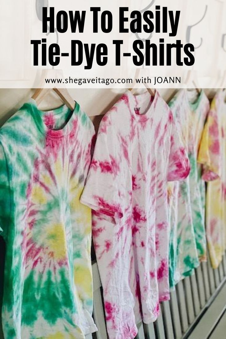 I am so excited to share with you how to easily tie-dye t-shirts!   #handmadewithjoann #DIY#craft#tiedye