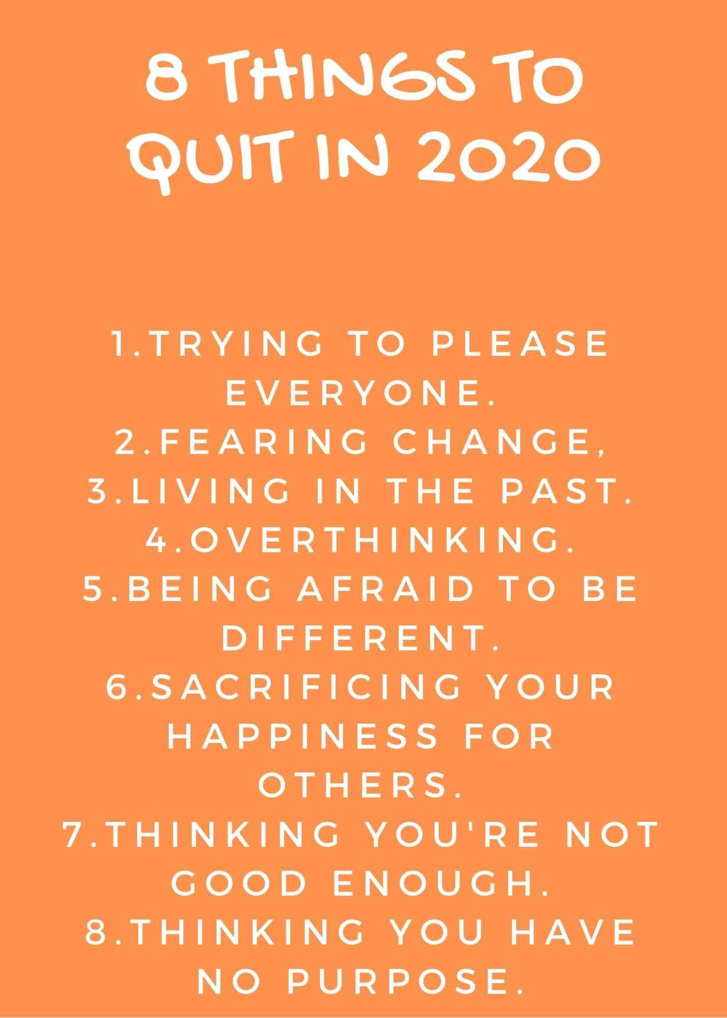 8 things to stop in 2020 in 2020 New year motivational