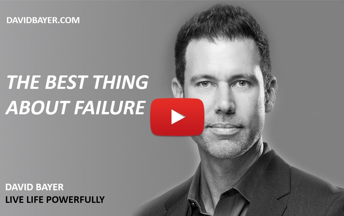 I love David Bayer He talks about the best thing about failure