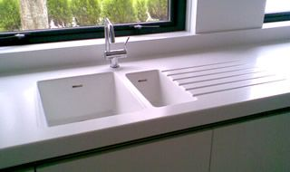 This Beautiful Solid Surface Corian Kitchen Counter Has An