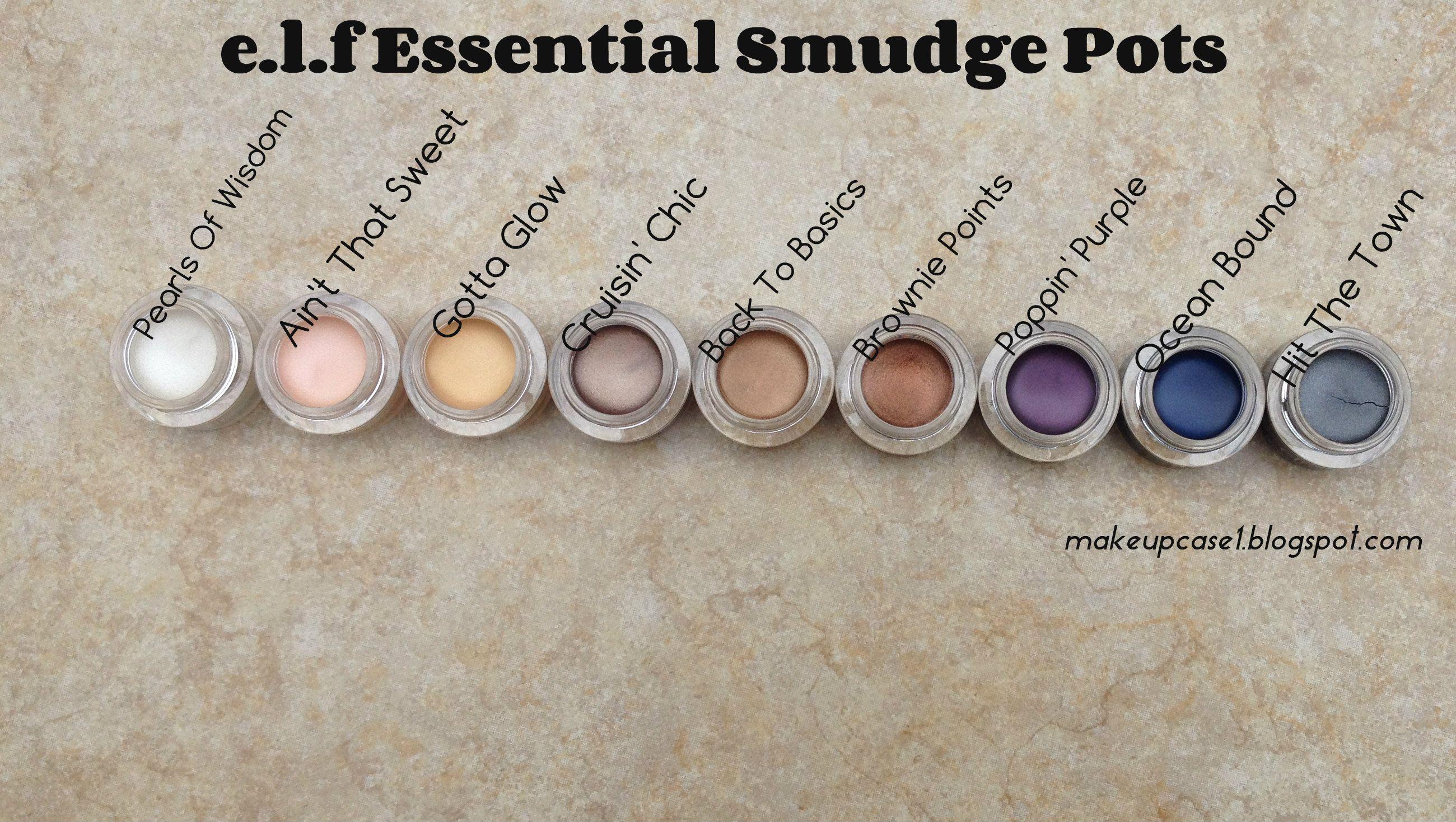 e.l.f Essential Smudge Pots Makeup obsession, Makeup