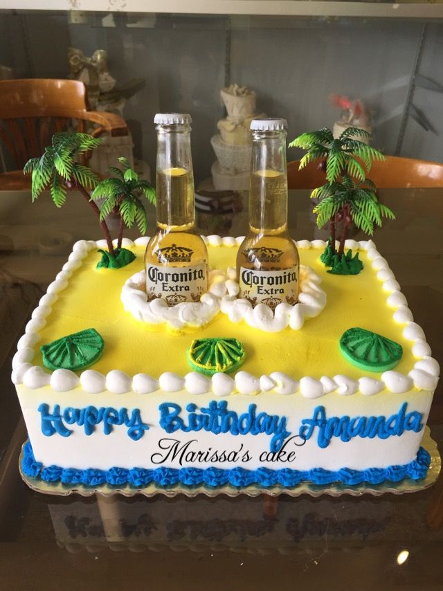 Corona beer birthday cake Visit us Facebookcommarissascake or