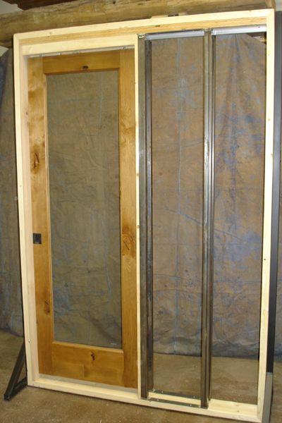 Display image how pocket doors slide inside steel posts - Interior door installation instructions ...