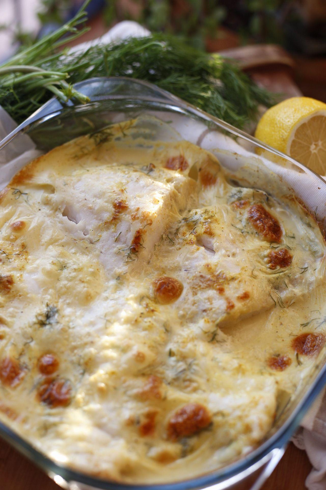 Kabeljau in Zitronen-Dill-Soße – Fisch Rezepte
