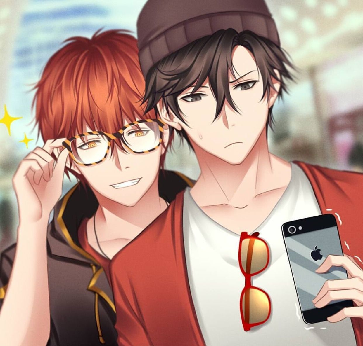 Luciel and Jumin (Mystic Messenger, 707, Seven
