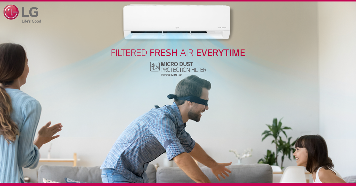 Bid Farewell To Dust And Allergens With Lg Airconditioner The Double Filtration System Fills Your Home With Clean And Hygienic Air For Utmost Comfo Divulgacao
