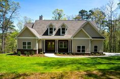 e or Two Story Craftsman House Plan