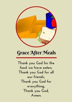 Grace Before Meals Prayer Poster