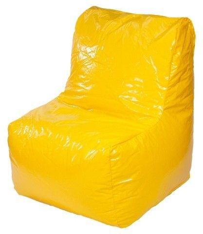 Tremendous Sectional Wet Look Vinyl Bean Bag Chair Yellow Gold Medal Inzonedesignstudio Interior Chair Design Inzonedesignstudiocom
