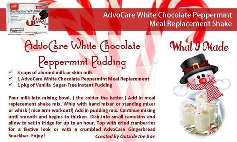 White Chocolate Peppermint Pudding