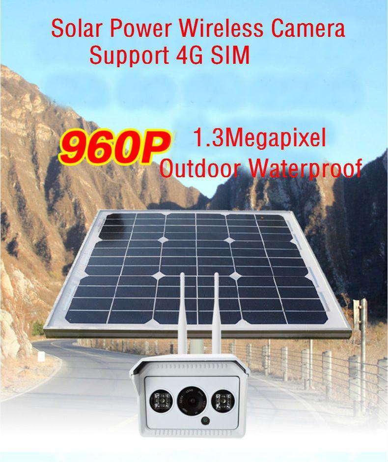 Yobangsecurity 960p 1 3m Solar Power Surveillance Camera Battery Wireless Outdoor Solar Power Ip Camera 3g 4g Sim With 16 Surveillance Camera Solar Solar Power